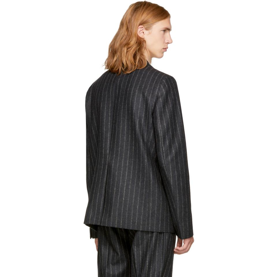 Acne Studios Wool Grey Striped Lund Blazer in Anthracite (Grey) for Men