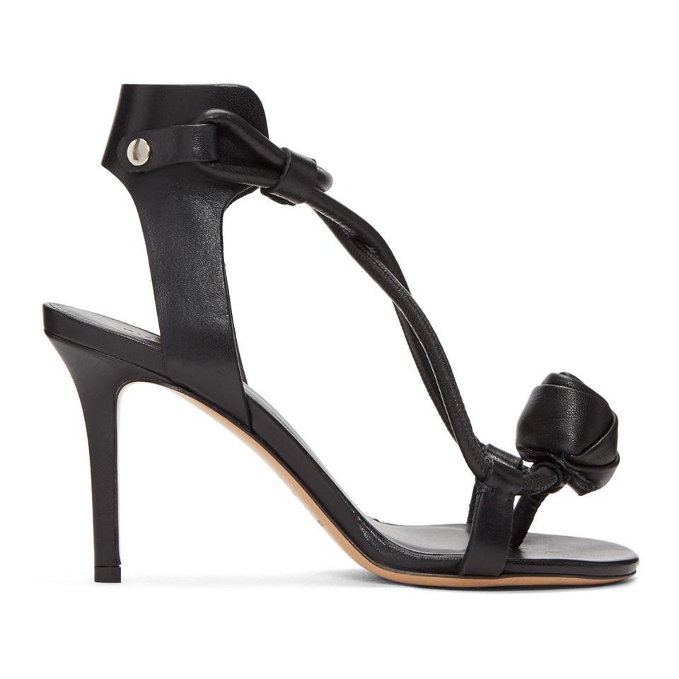 Acne Studios Black Ablee Tulip Bow Sandals UI7L0eO