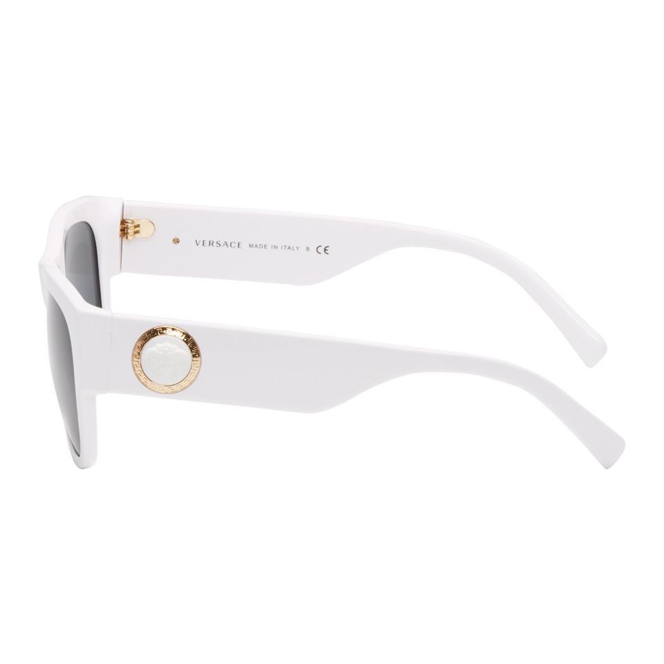 1a9e20147629 Versace - White Medusa Ares Sunglasses for Men - Lyst. View fullscreen