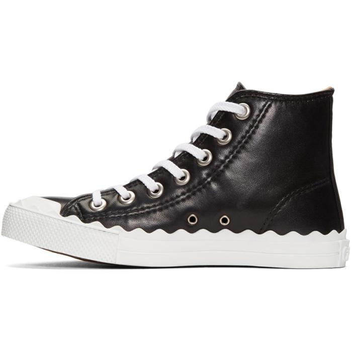 Chloé Leather Black Kyle High-top Sneakers