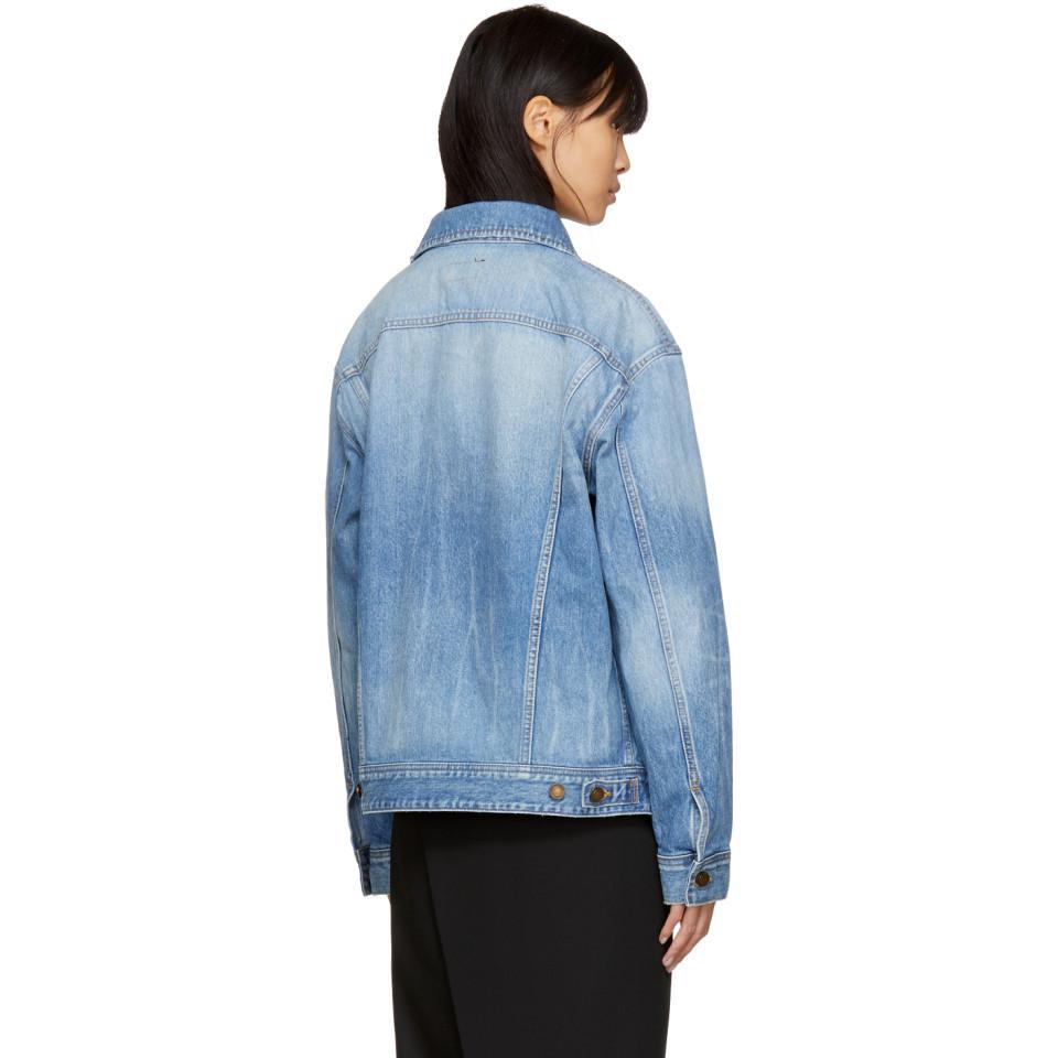 7c448cd2e1 Saint Laurent Blue Oversized 'loulou' Denim Jacket