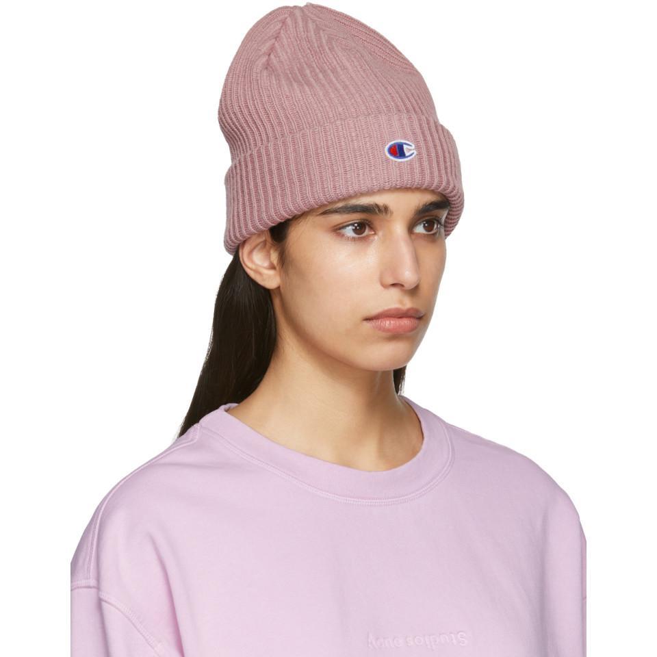 ac5d4d1df Champion Pink Logo Beanie
