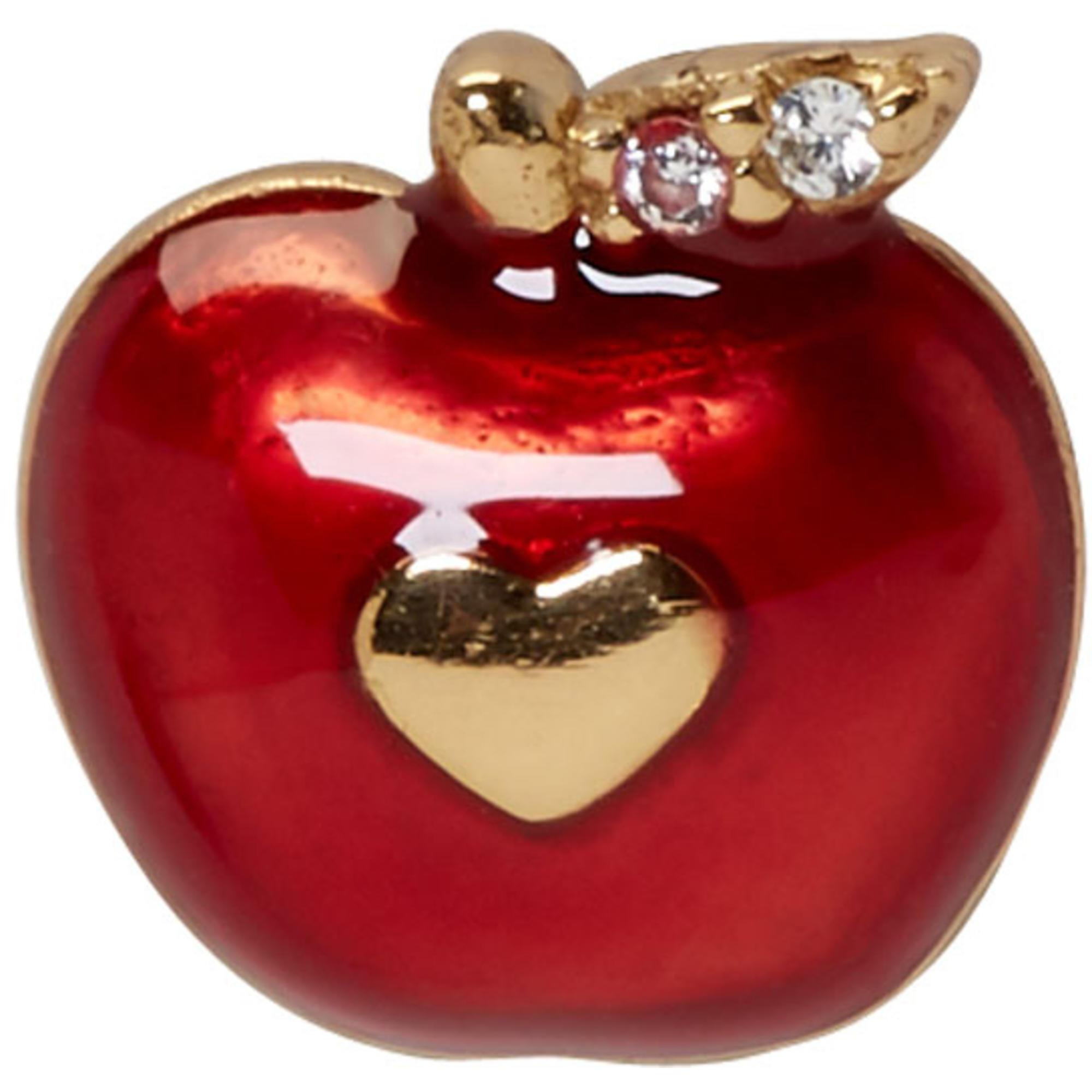 6f967a96e Marc Jacobs Red Single Apple Stud Earring in Red - Lyst