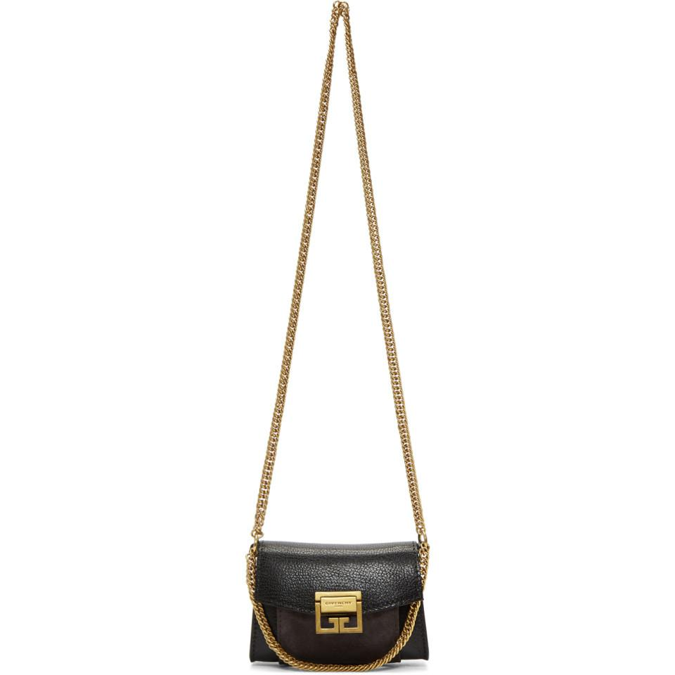 64aa3ecc9542 Lyst - Givenchy Black And Grey Nano Gv3 Bag in Gray