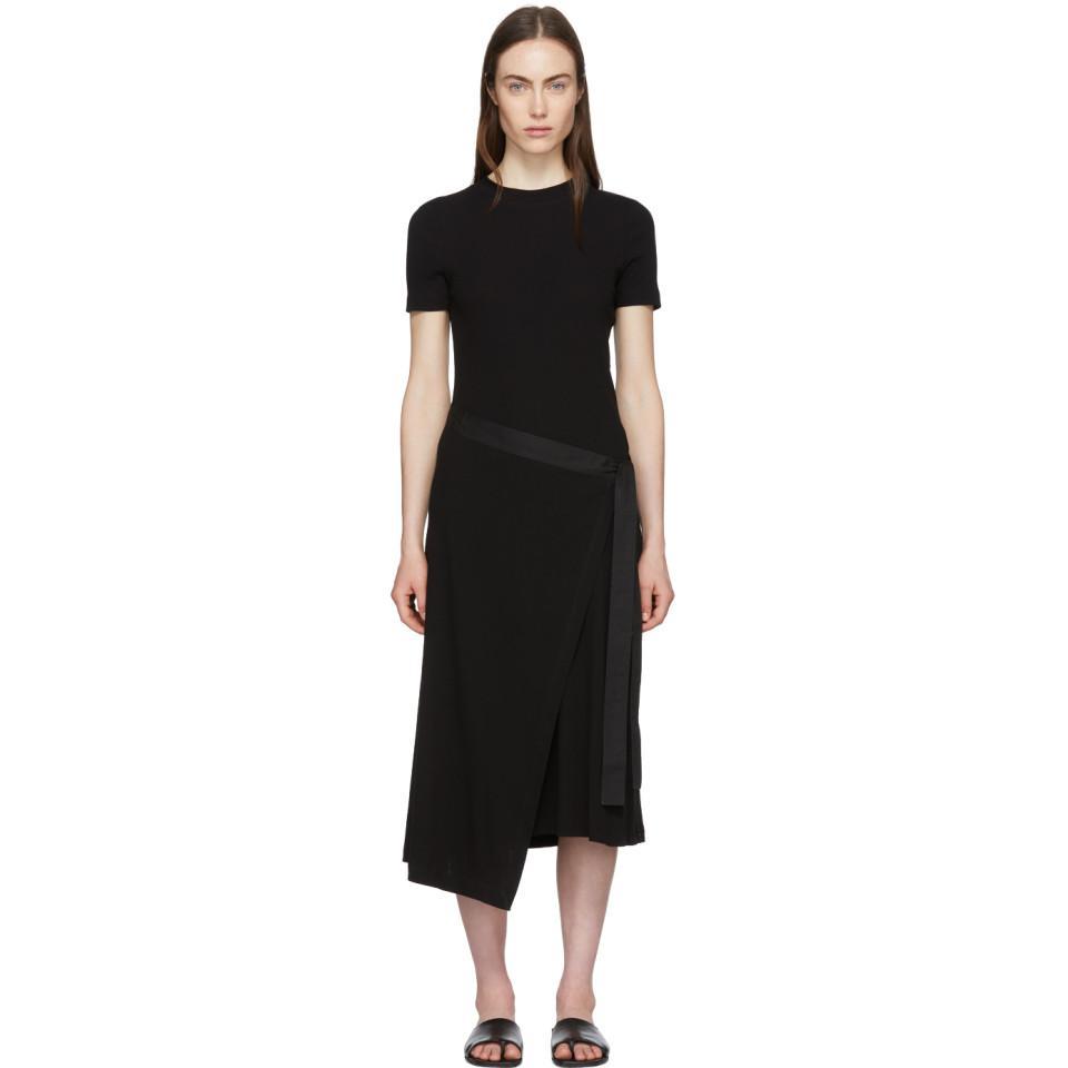 Outlet Footaction Outlet Sast Black Apron Wrap T-Shirt Dress Rosetta Getty 2018 New Sale Online FycJAzjCq