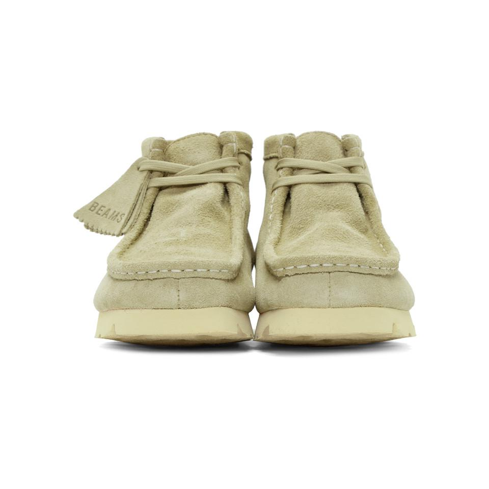 Clarks Beige Beams Edition Suede Wallabee Gtx Boots In Natural For