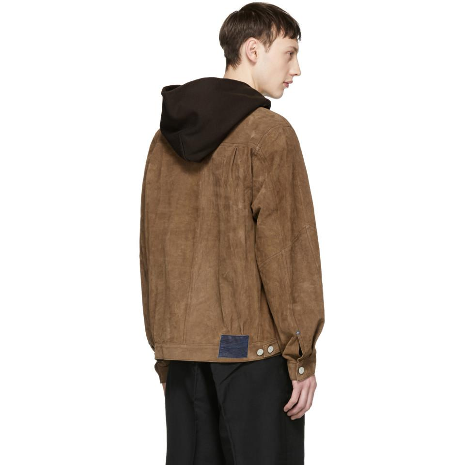 Visvim Brown Jumbo 101 Leather Jacket for Men