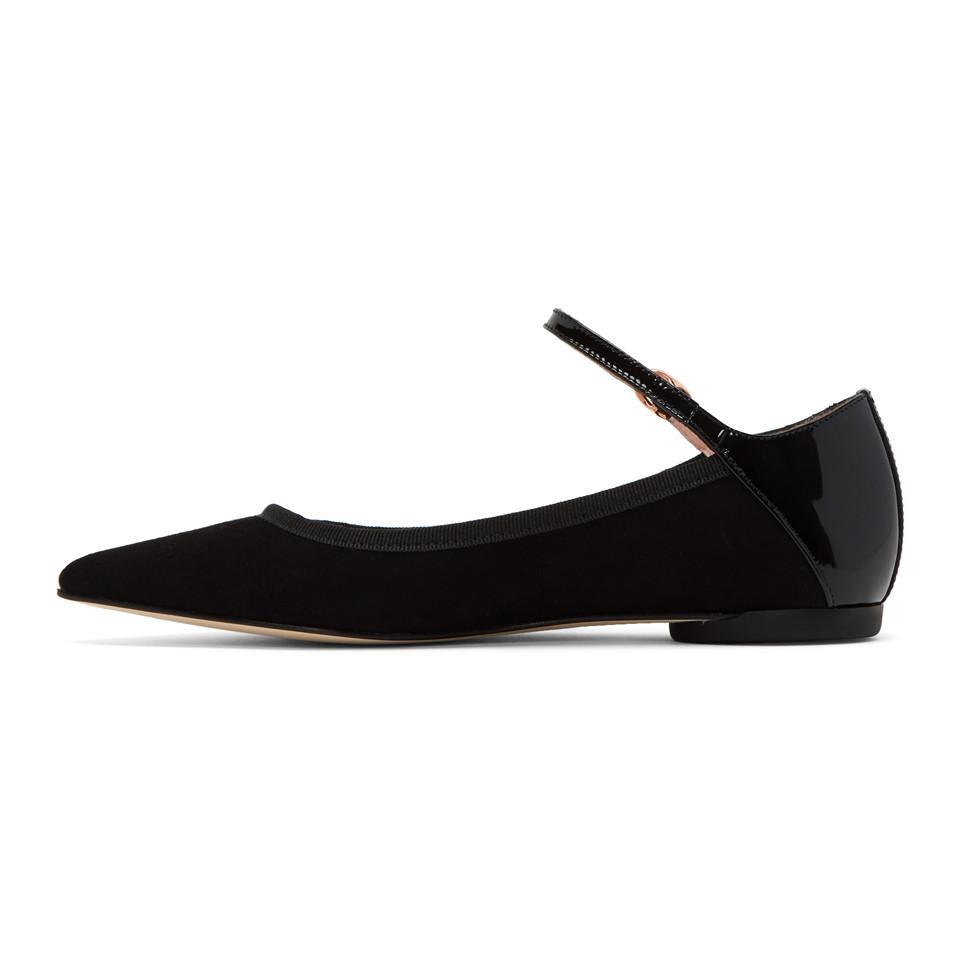 acheter populaire 1cea5 fd3f0 Ballerines noires Clemence Mary Jane Repetto en coloris Black