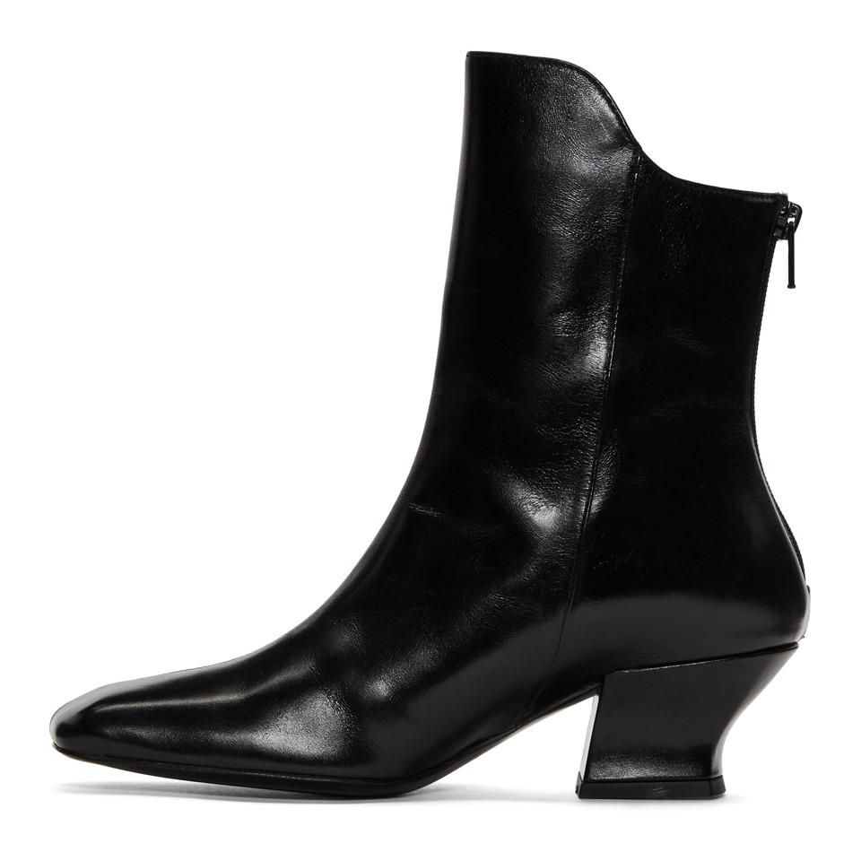 Dorateymur Leather Black Han Mid-calf Boots