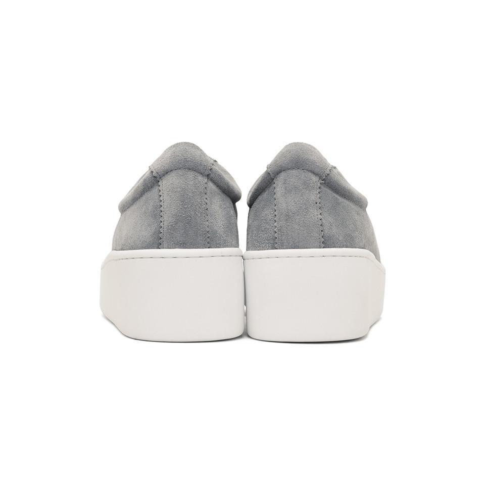 Clergerie Grey Suede Tasket Sneakers in Grey