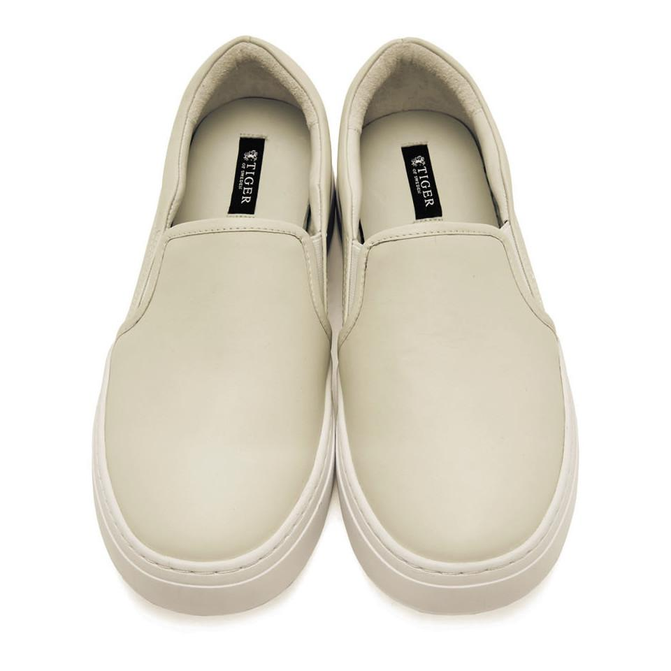 Tiger of Sweden Off-White Andover Slip-On Sneakers mvJatxbHz