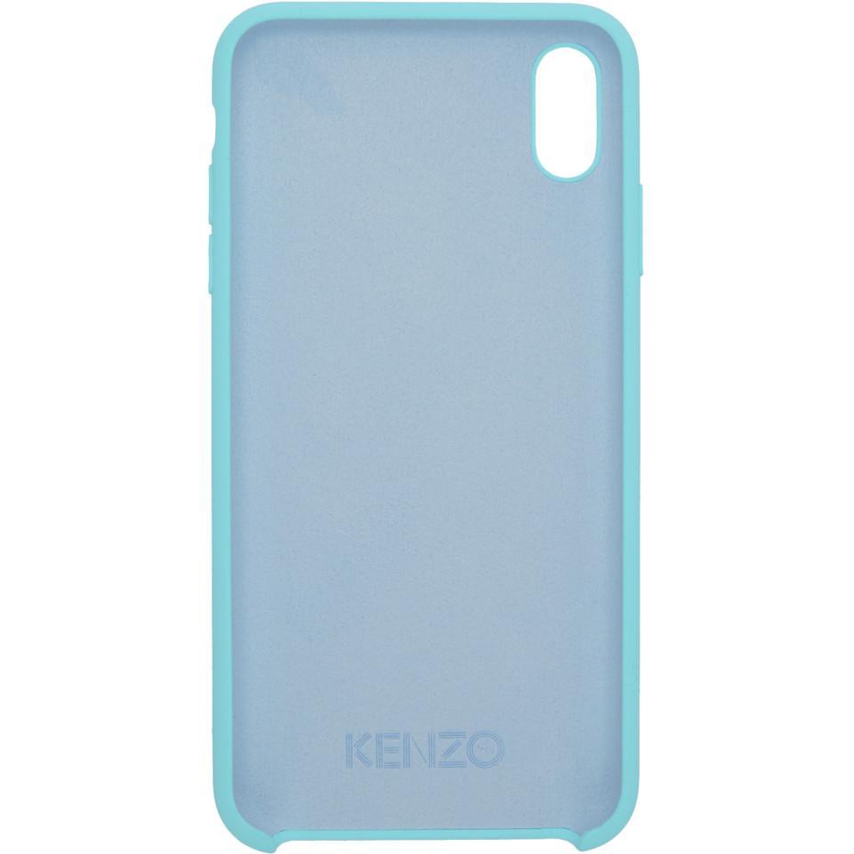 Etui pour iPhone Xand bleu et jaune Tiger Caoutchouc KENZO pour homme en coloris Bleu