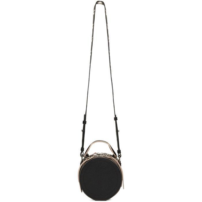 Carven Leather Black Round Crossbody Bag