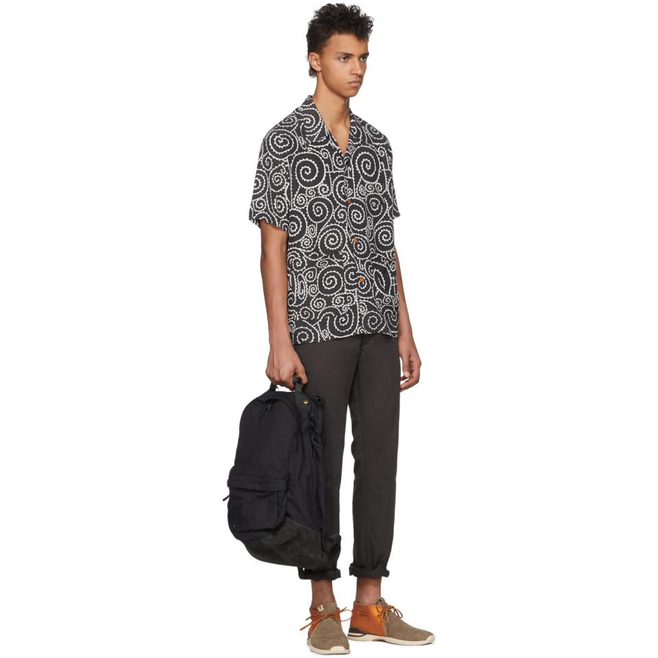 Visvim Black Foliage Duke Shirt for Men