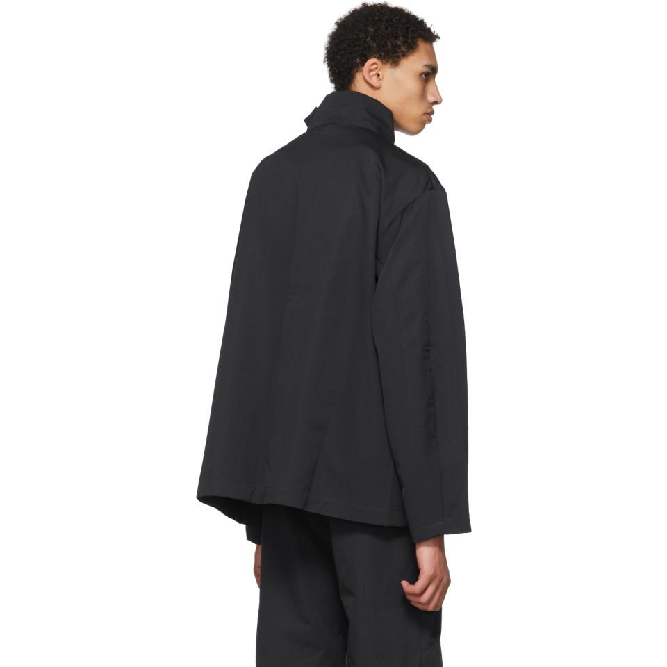 Kiko Kostadinov Cotton Grey Cross Front Short Jacket in ...