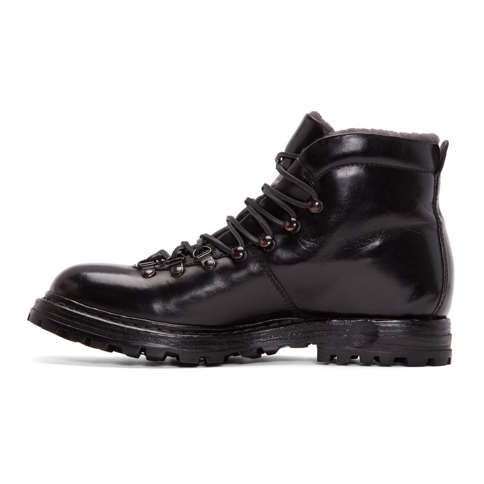Recommend Black Shearling Kontra Hiking Boots Officine Creative For Cheap Sale Online In China Online JwYVA5ZEa