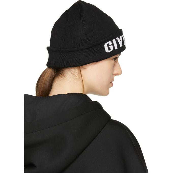 97034ec3e1a ... where can i buy Givenchy Black Logo Beanie in Black - Lyst 9deb3 679d5  ...