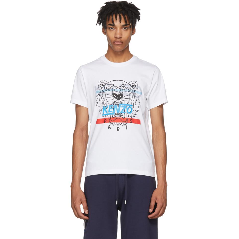 Lyst - T-shirt blanc Hyper Tiger KENZO pour homme en coloris Blanc be2b0360761