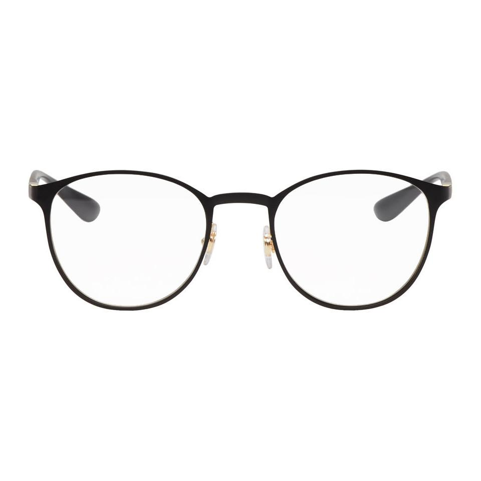 5eacfb25869 Lyst - Ray-Ban Black Round Liteforce Glasses in Black for Men