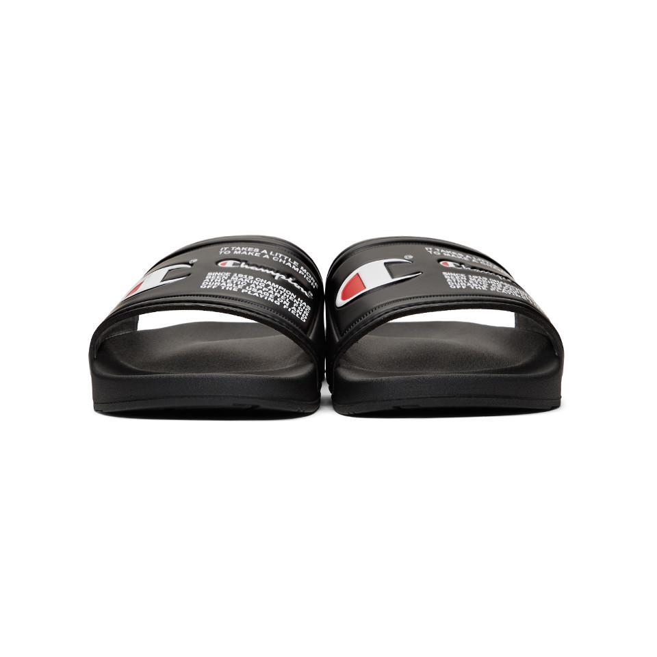 8e876f574972 Lyst - Champion Black Ipo Jock Sandals in Black for Men