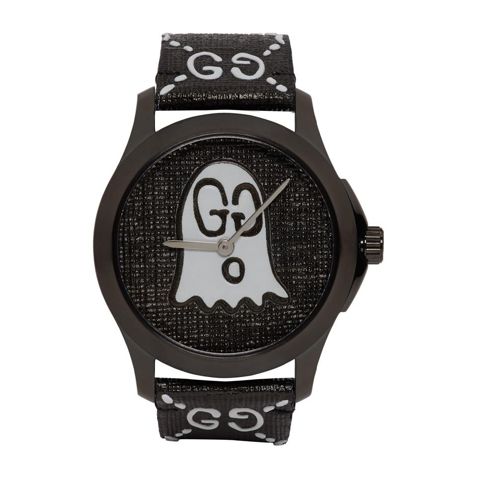 840e20f5bb1 Lyst - Gucci Black G-timeless Ghost Watch in Black for Men