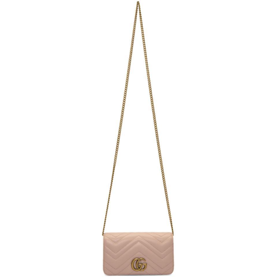 Lyst - Sac rose GG Marmont 2.0 Gucci en coloris Rose 9a5fbf53014