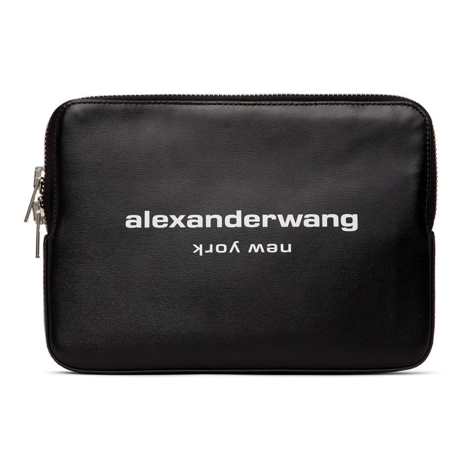 Pochette noire Scout Cuir Alexander Wang en coloris Noir