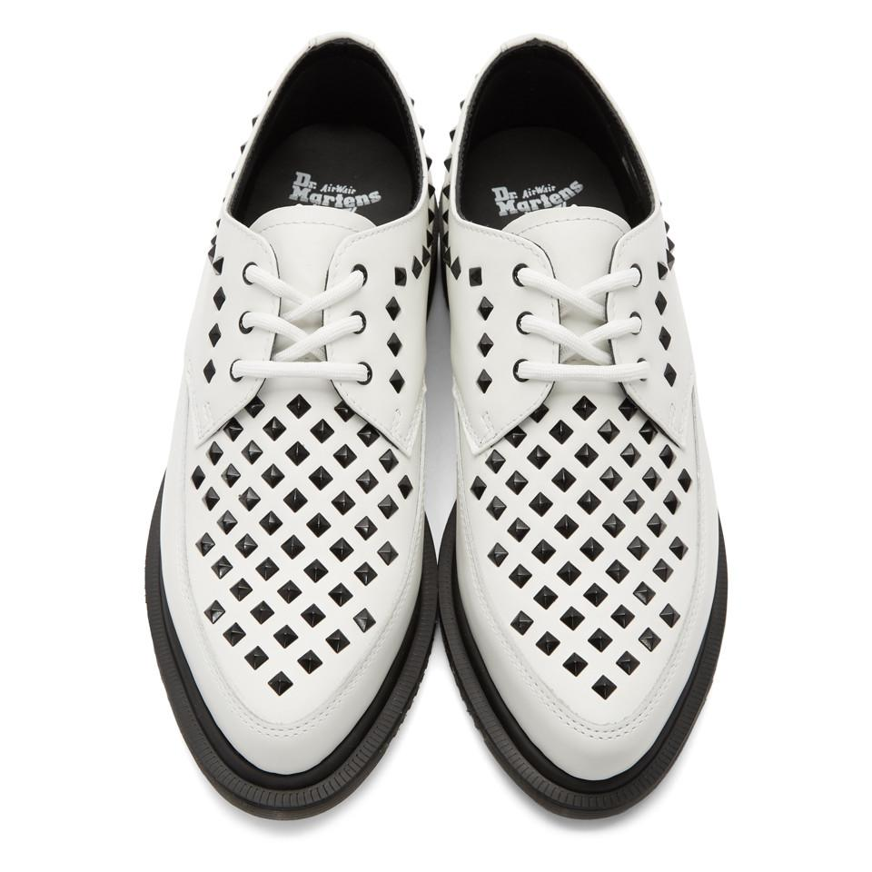 Dr. Martens Leather White Studded