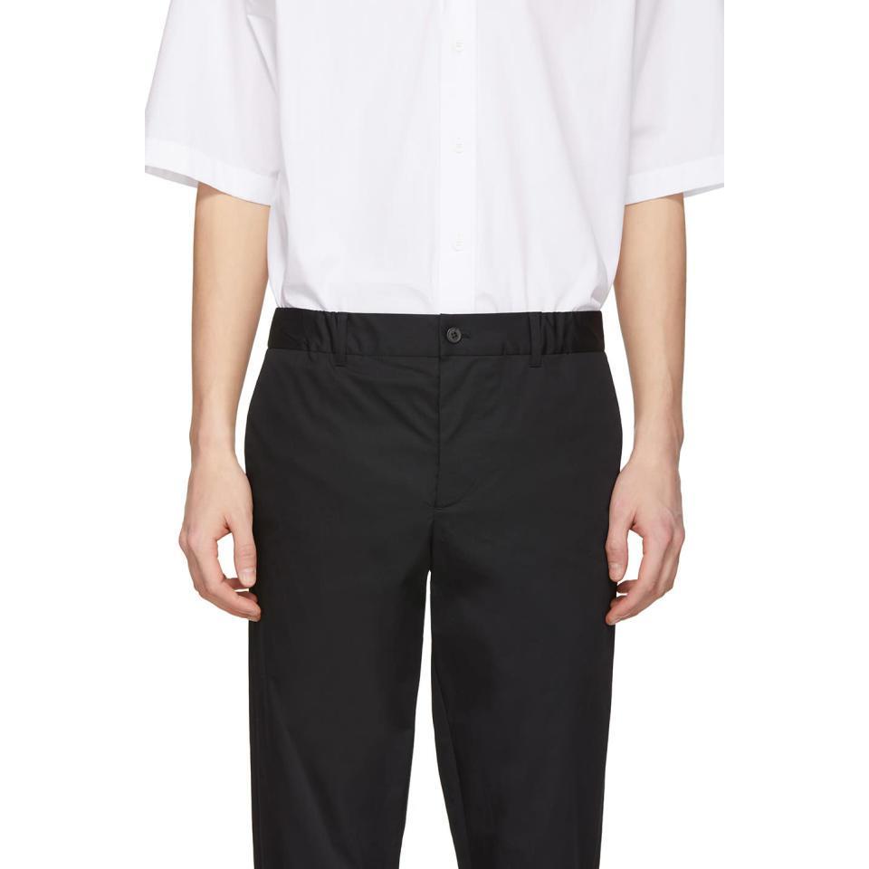 Stephan Schneider Cotton Black Edge Trousers for Men