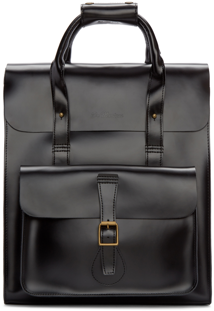 55a9b438fe50 Dr Martens Small Black Leather Backpack | Building Materials Bargain ...
