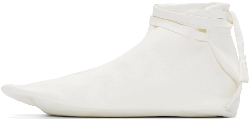 sasquatchfabrix white leather tabi boots in white lyst