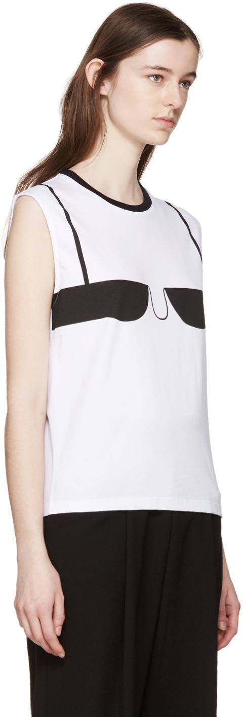 J white bra t shirt in white lyst for Dd t shirt bra
