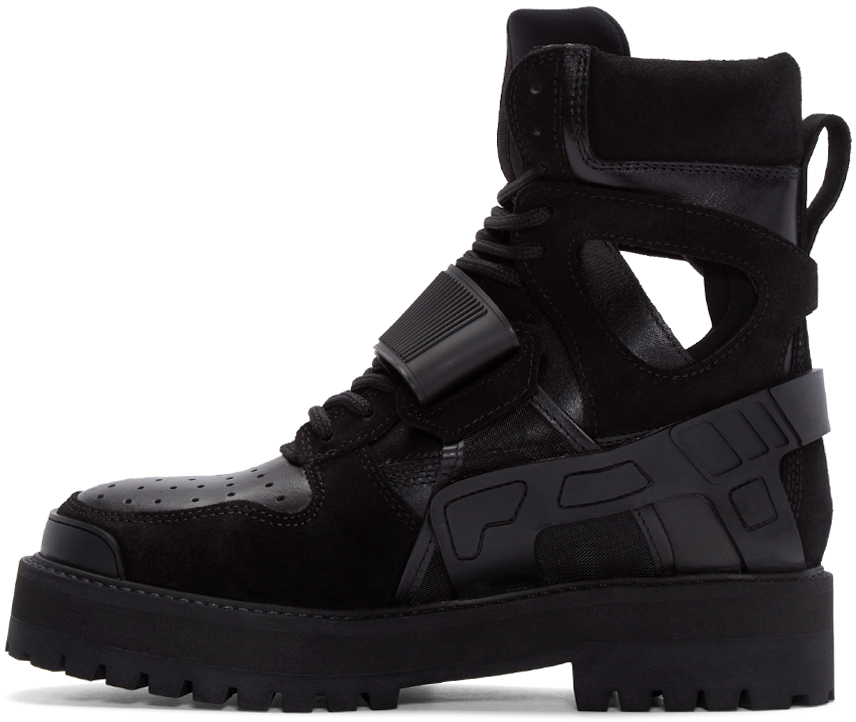 Lyst Hood By Air Velcro Fastening Ankle Boots In Black