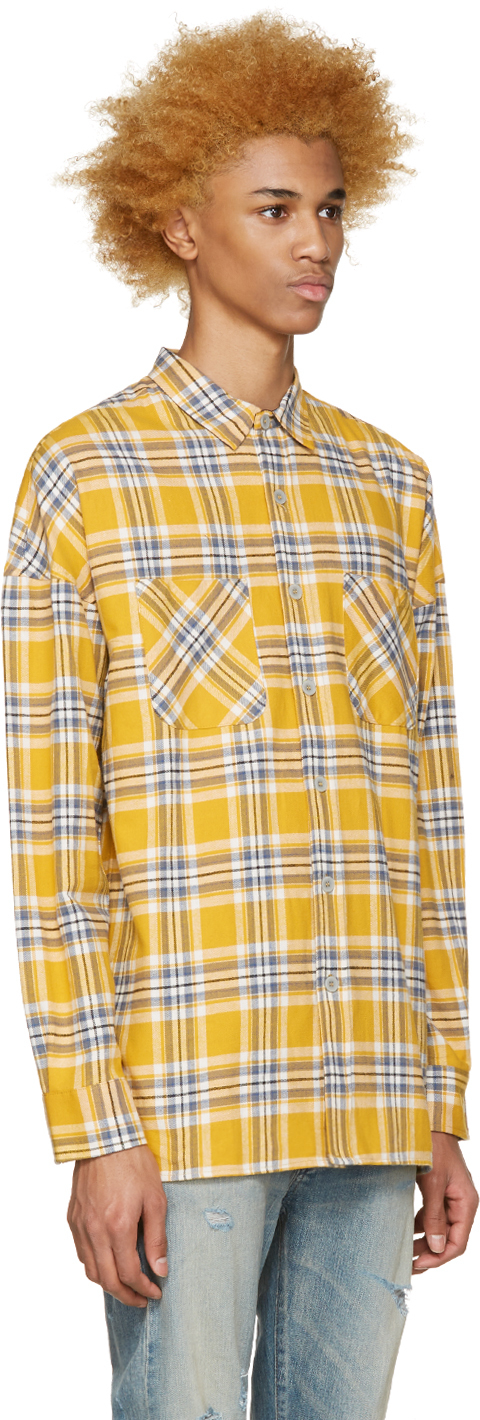 Fear of god Yellow Flannel Check Shirt in Yellow for Men | Lyst