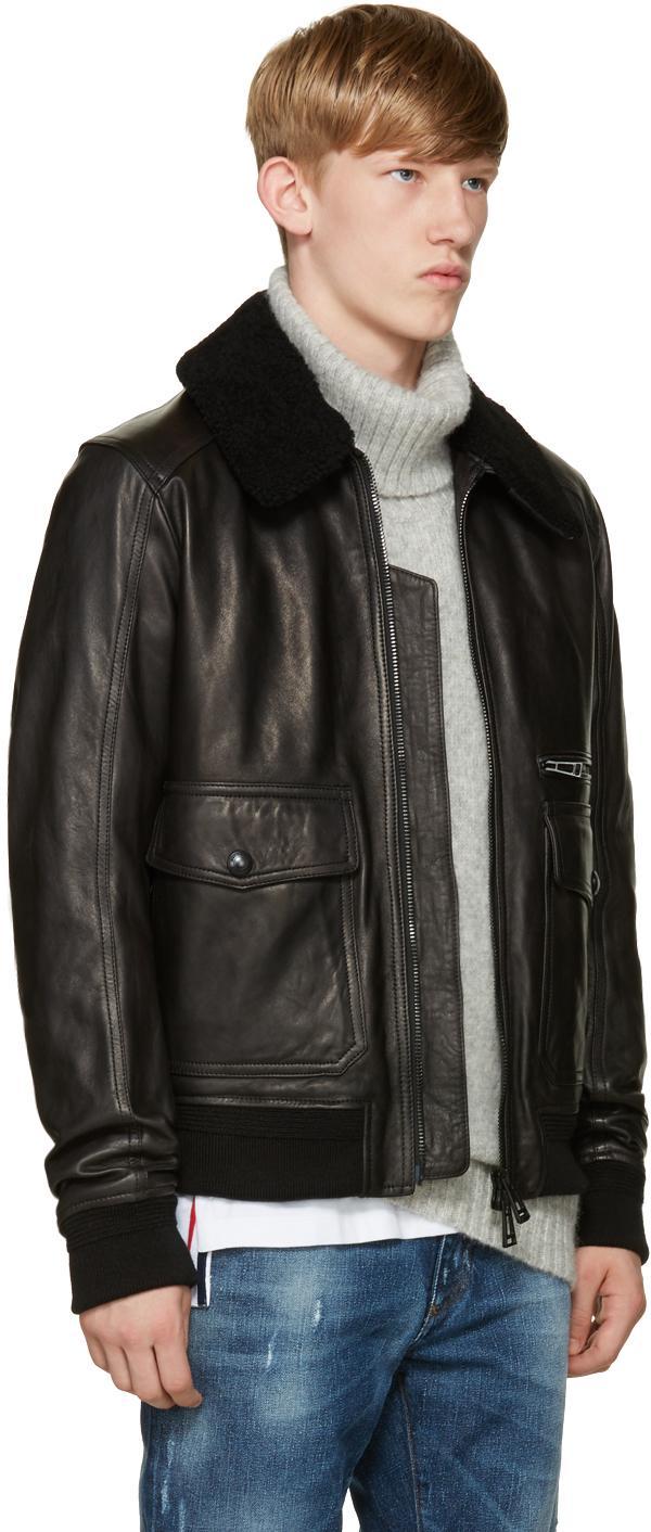630df46f0 Belstaff Black Leather Hallington Jacket for men
