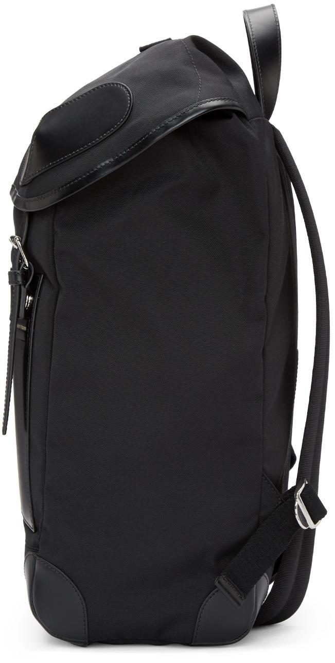 Givenchy Black Canvas Rider Backpack for Men