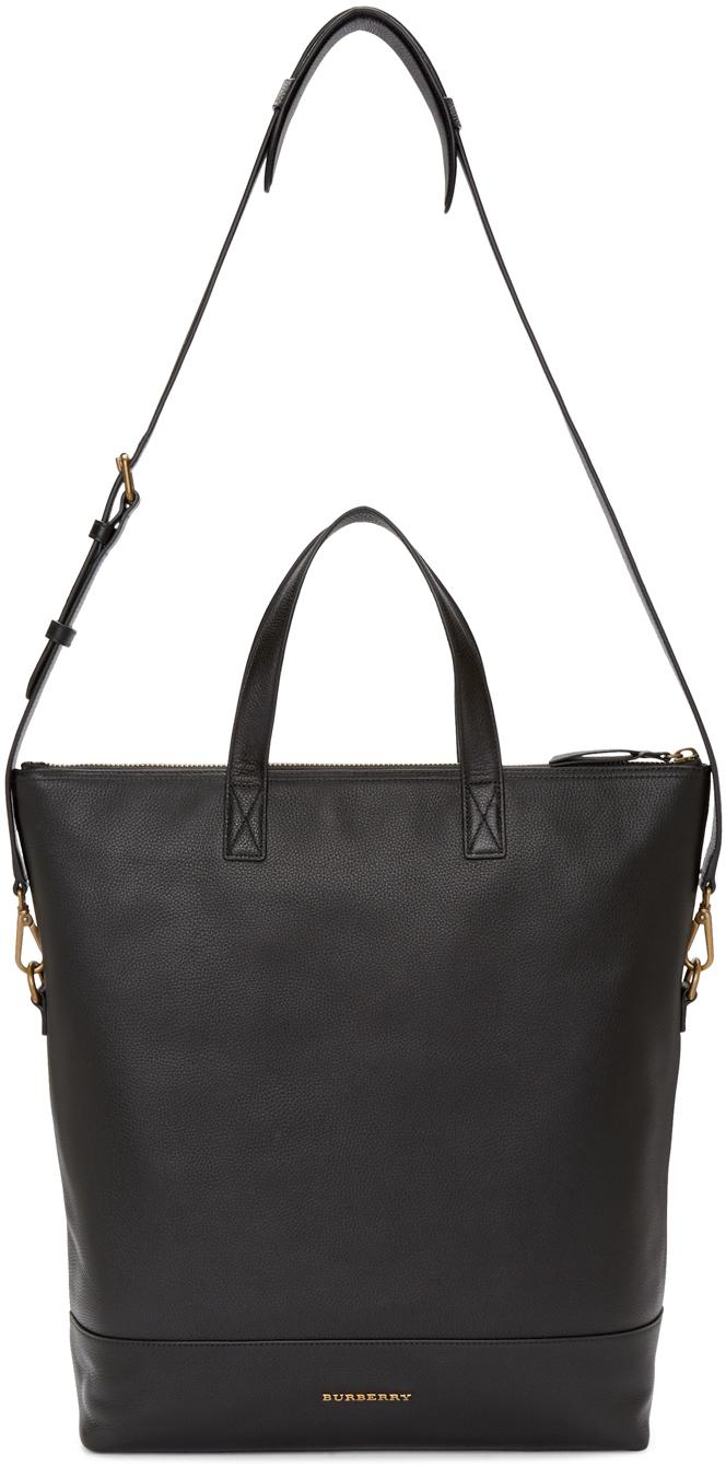 Burberry Leather Black Armley Tote Bag for Men