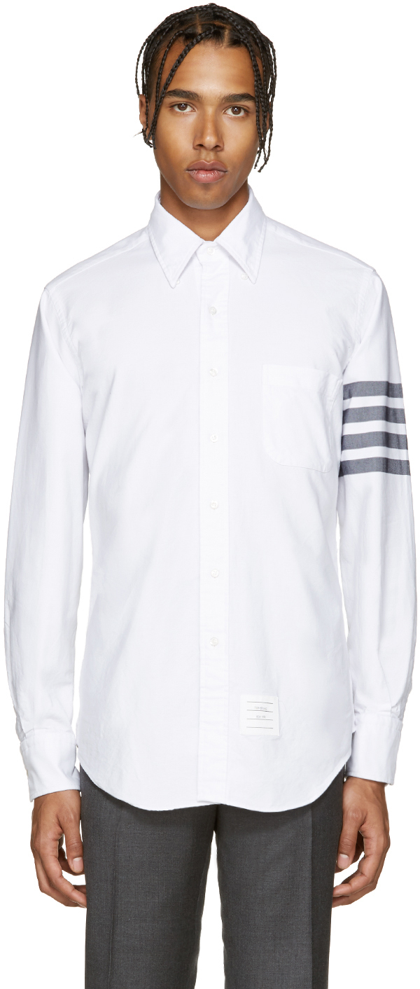 Thom browne white oxford shirt in white for men lyst for Thom browne shirt sale