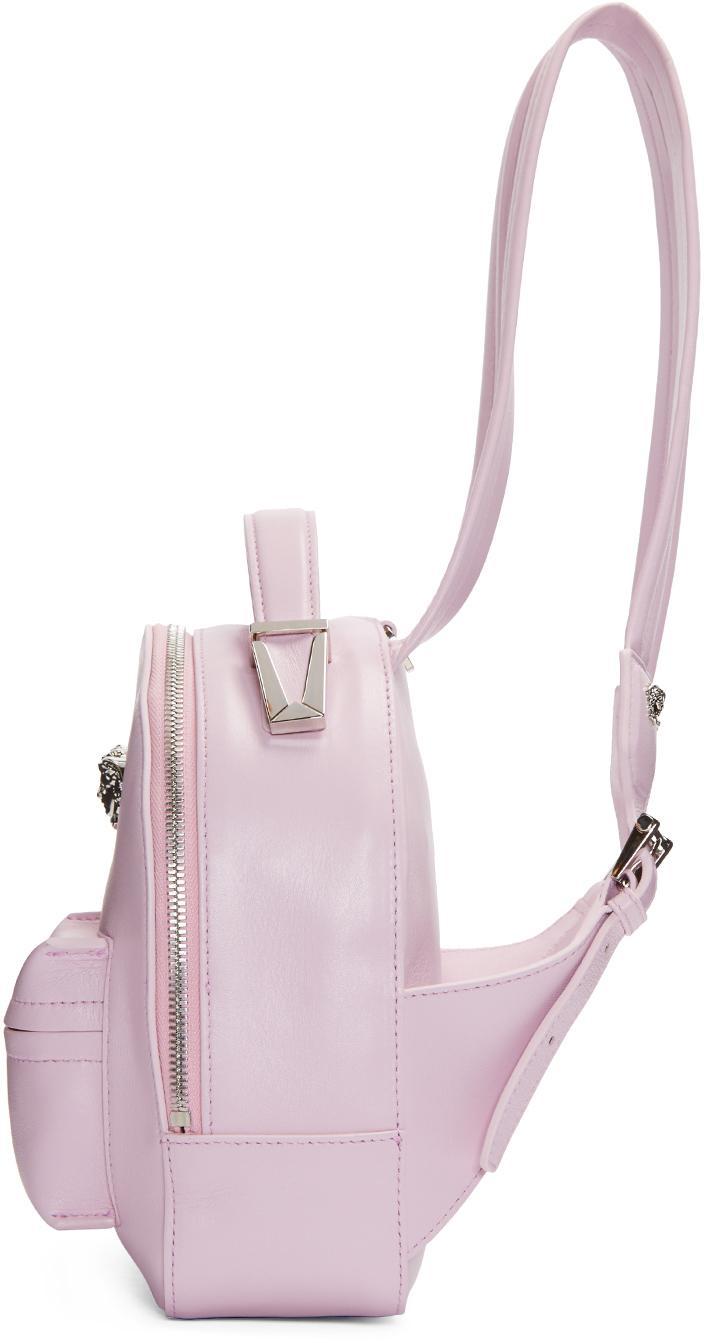 b125e81a Versace Blue Pink Medusa Mini Backpack