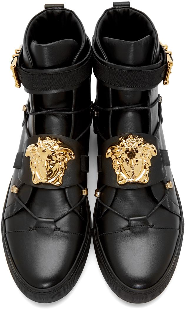 versace mens high tops