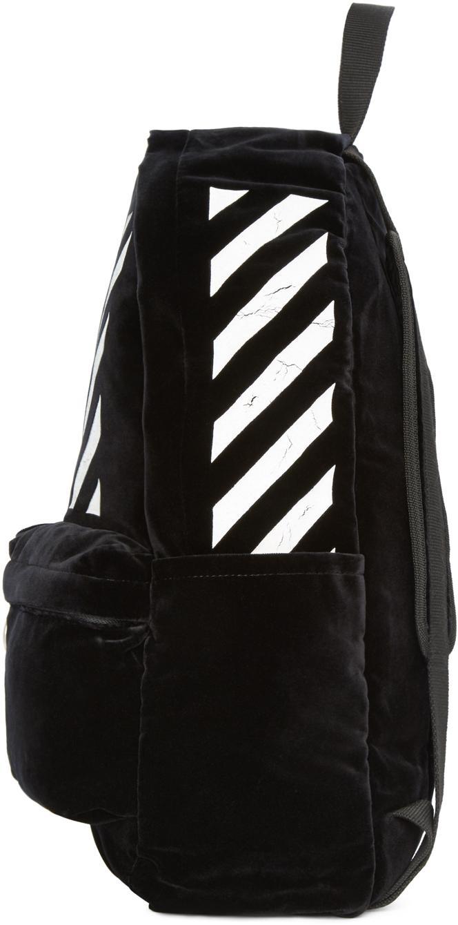 Off-White c/o Virgil Abloh Black Velvet Backpack for Men