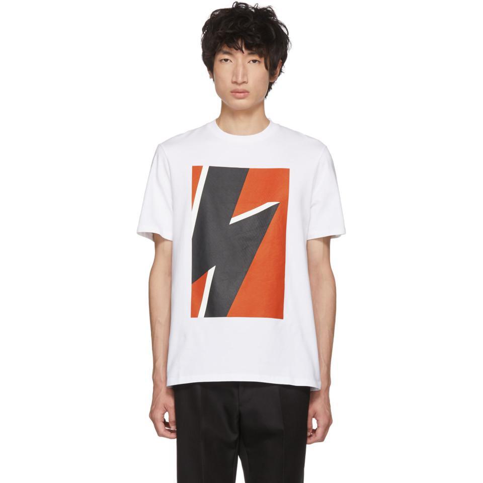 White & Blue Pop Art Thunderbolt T-Shirt Buy Cheap Many Kinds Of 9y7o1