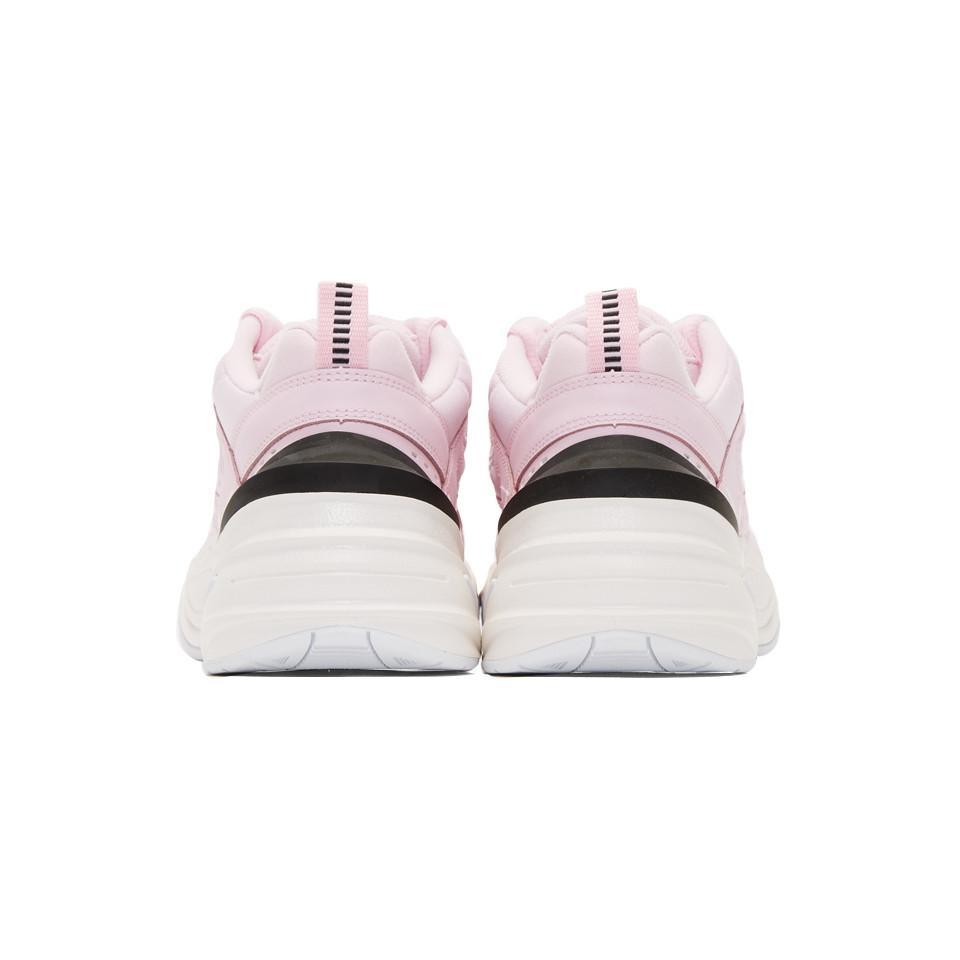 Baskets en cuir et toile M2K Tekno Nike en coloris Rose LBrv