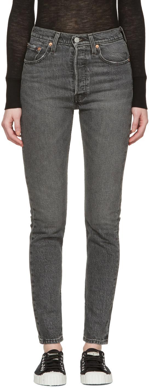 levi 39 s black 501 skinny jeans in black lyst. Black Bedroom Furniture Sets. Home Design Ideas