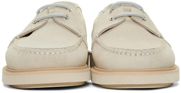 A.P.C. Suede Beige Basile Boat Shoes in Natural for Men