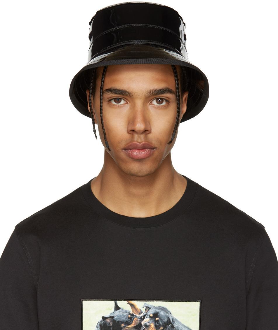 0ea71e0119e Lyst - Givenchy Black Shiny Bucket Hat in Black for Men