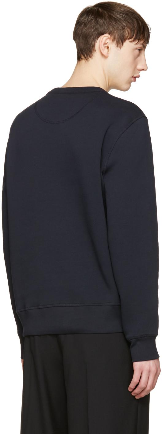 Burberry Cotton Navy Lyster Pullover in Blue for Men