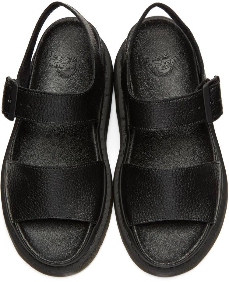 Dr Martens Leather Black Romi Sandals Lyst