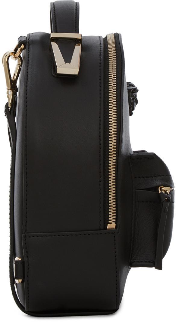 Versace Mini Medusa Leather Backpack In Black Lyst