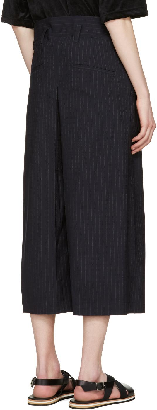 Sasquatchfabrix Wool Navy Hakama Trousers in Blue for Men